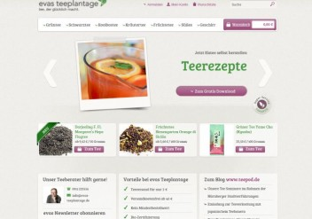 Teeshop Evas Teeplantage