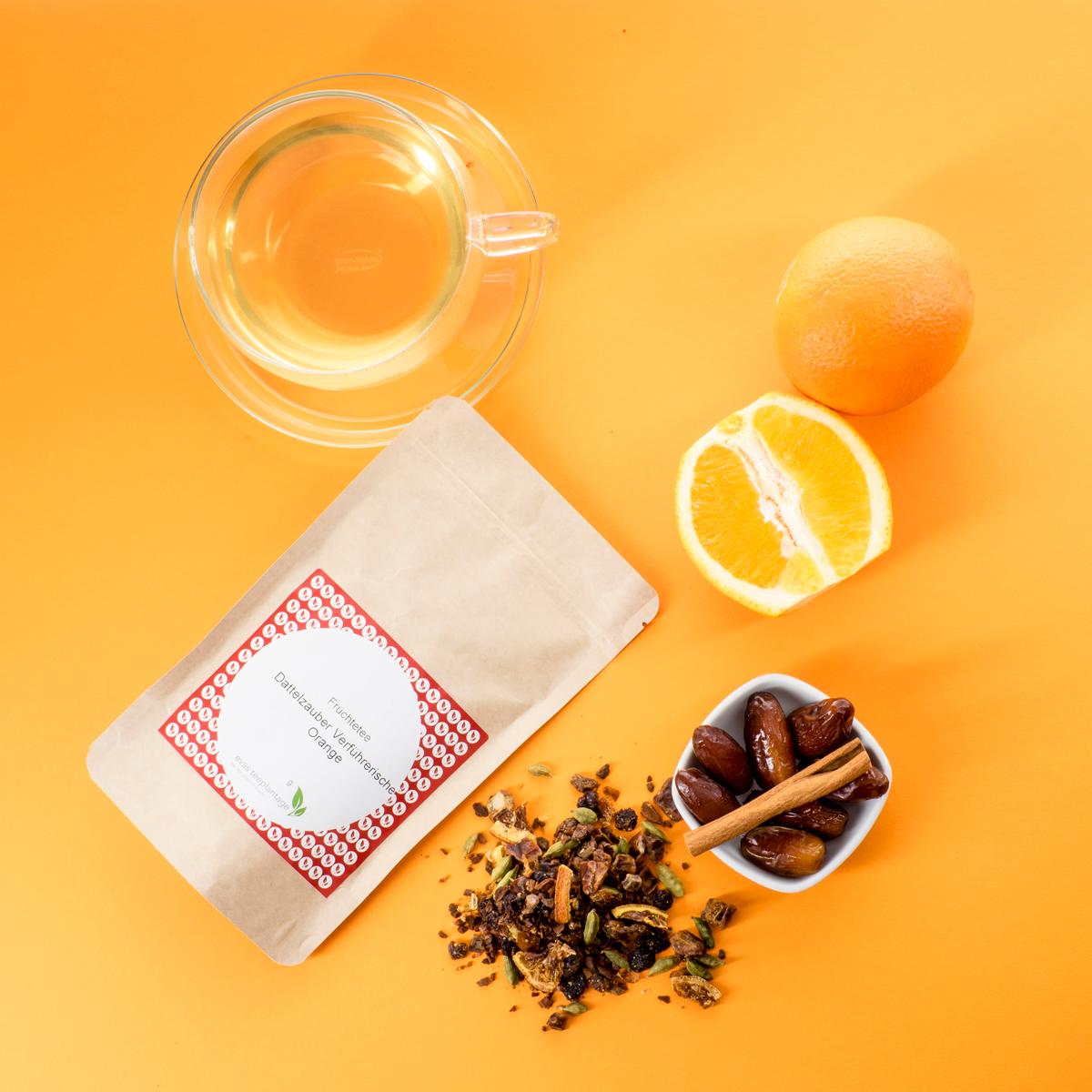 Früchtetee Dattelzauber Verführerische Orange
