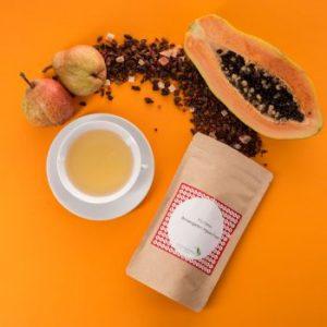 Früchtetee mit Birnen, Papaya und Ingwer