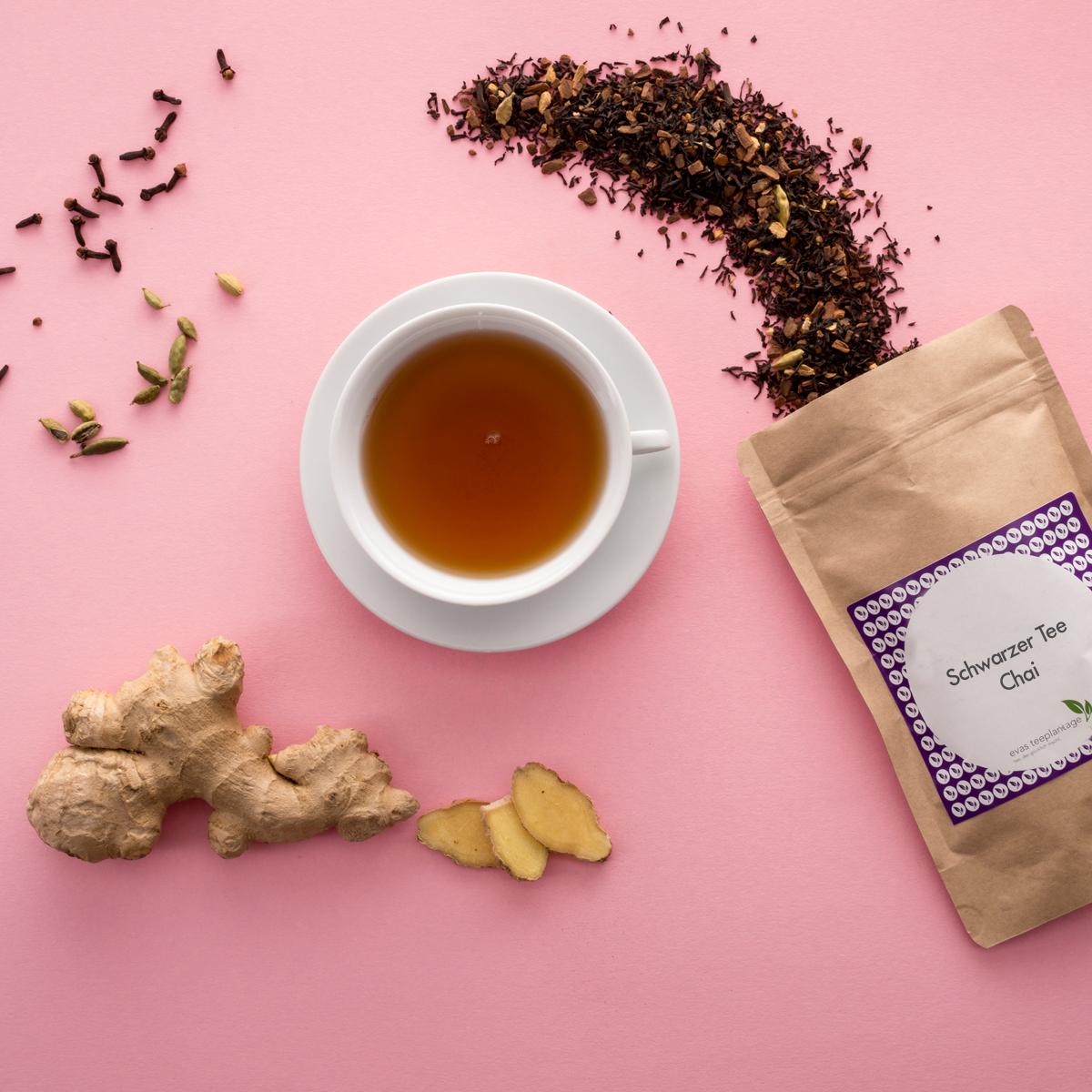 Schwarztee Chai für Chai-Latte