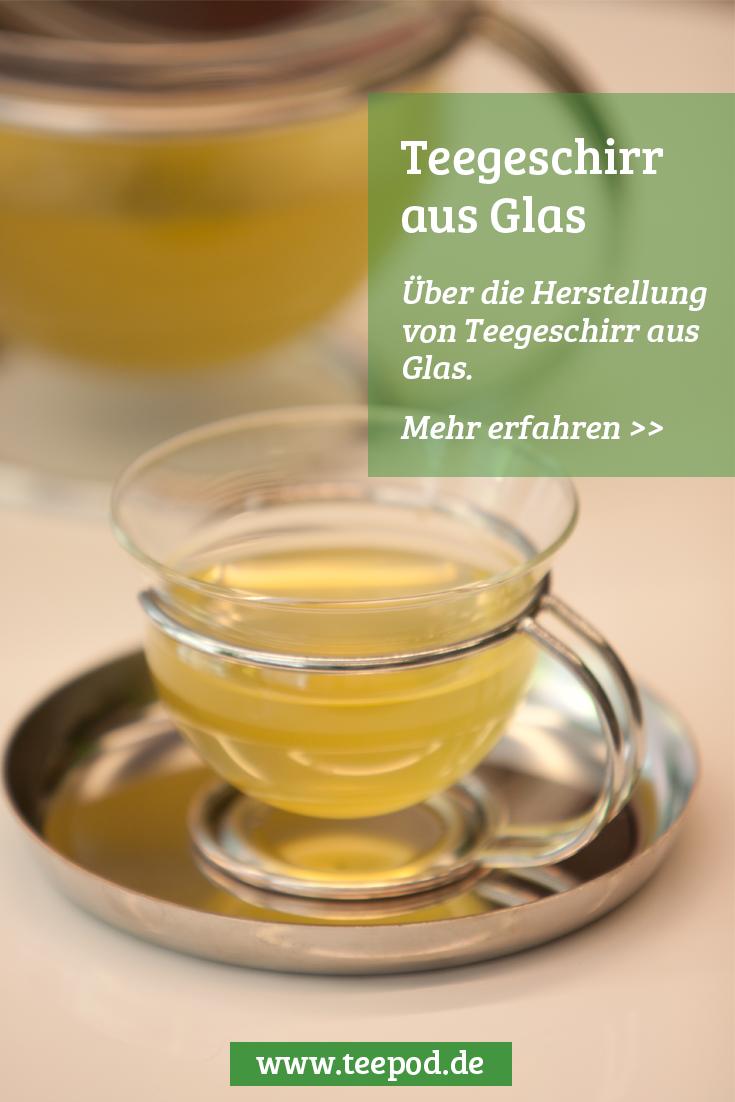 Teegeschirr aus Glas: Teekanne aus Glas und schöne Glas Teetassen