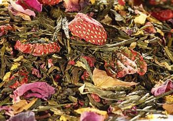 Aromatisierter Tee, Erdbeerscheiben, Grüner Tee Tiger Town, Oxidation, Erdbeertee