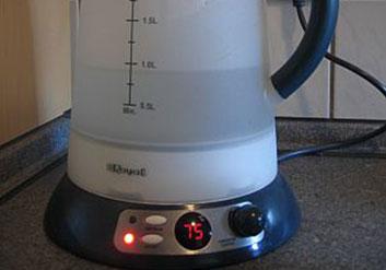 Energiesparen beim Teekochen