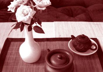 Teeset, Teeschale, Teekanne
