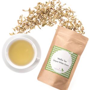 Weißer Tee, hier zum Beispiel Linyun White Snow aus China