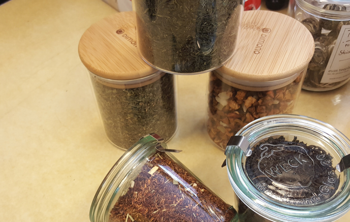 Verpackungsfrei einkaufen, Tee kauf zero waste, zero waste, plastikfrei