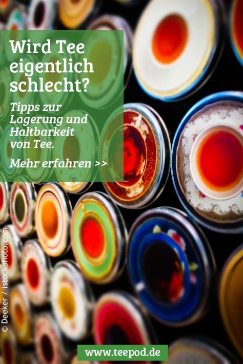 Teedose - perfekt zum Aufbewahren von losem Tee, lichtecht und trocken