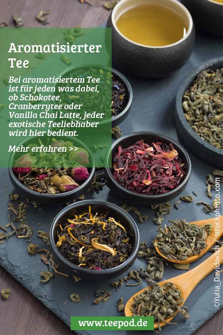 Aromatisierter Tee: Übersicht und Link zu Pinterest
