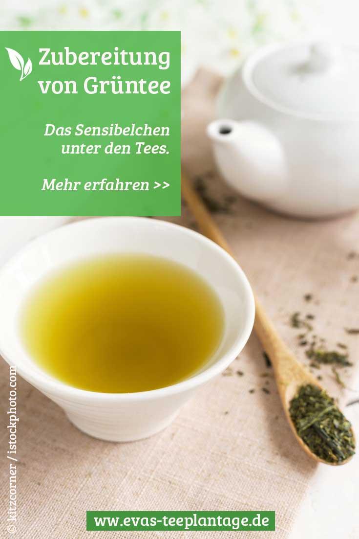 Zubereitung von Grüntee: das Sensibelchen unter den Tees
