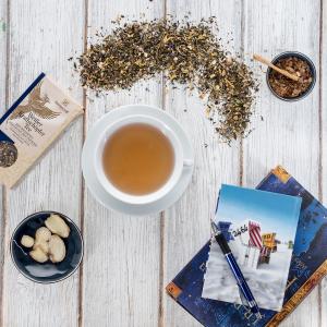 Weißer Tee Kraftschöpfer mit Ingwer
